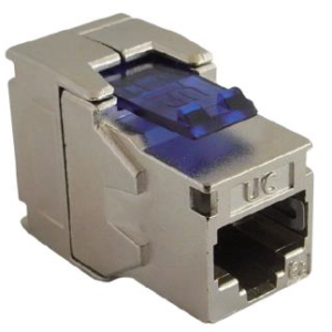 Draka UC Connect HD Cat 6A RJ45 FTP Keystone Jack 180 Tool-Free Sheilded